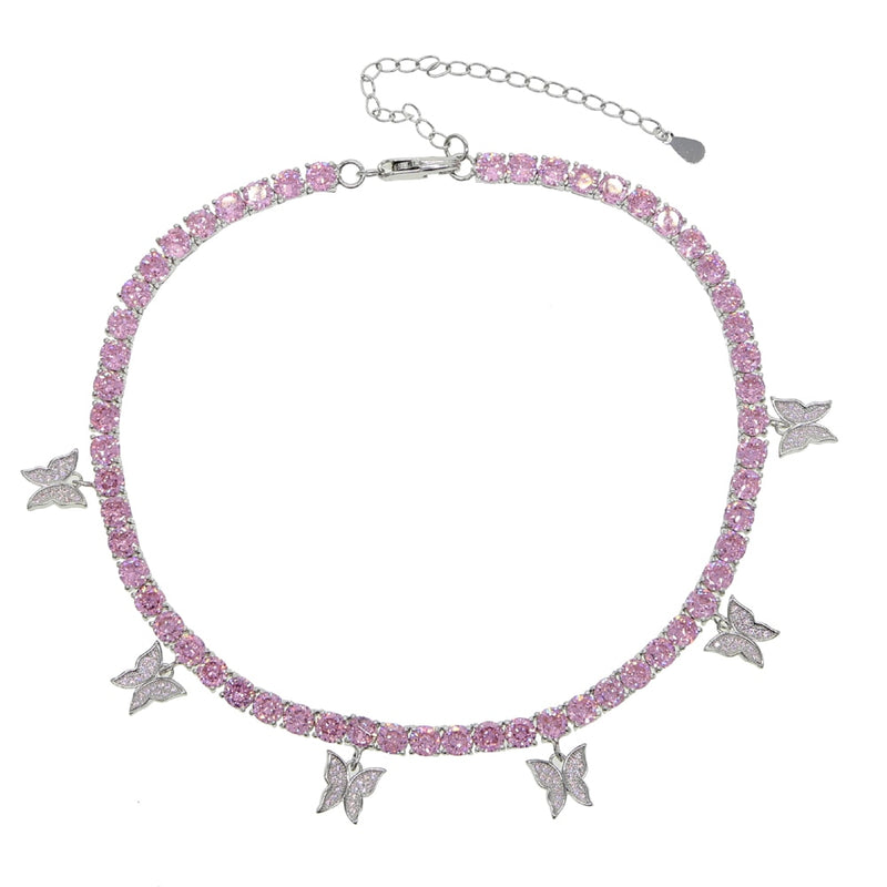 Luxury Bling Butterfly Choker