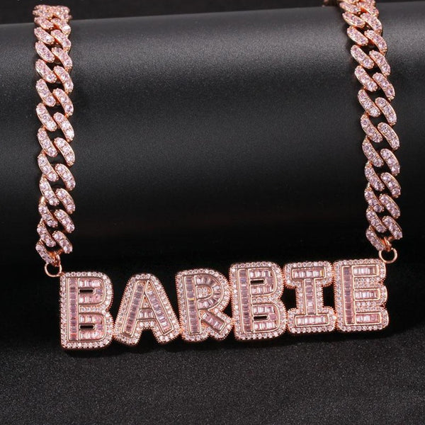 Barbie Name Cuban Link