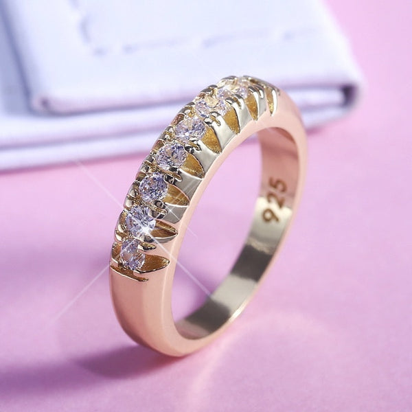 Angel Love Golden Ring Band