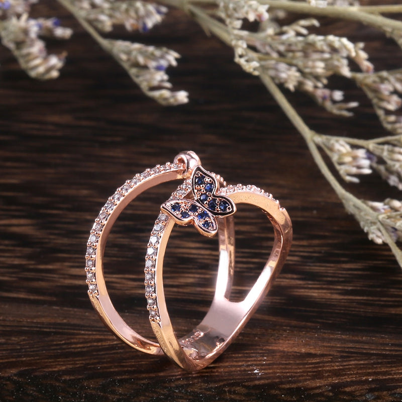 Romantic Butterfly Trail Ring
