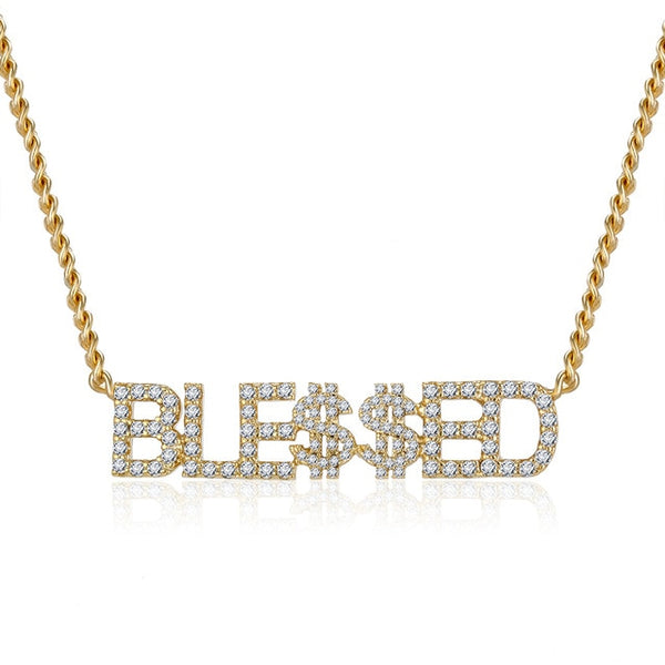 Angelic CZ Custom Name Choker