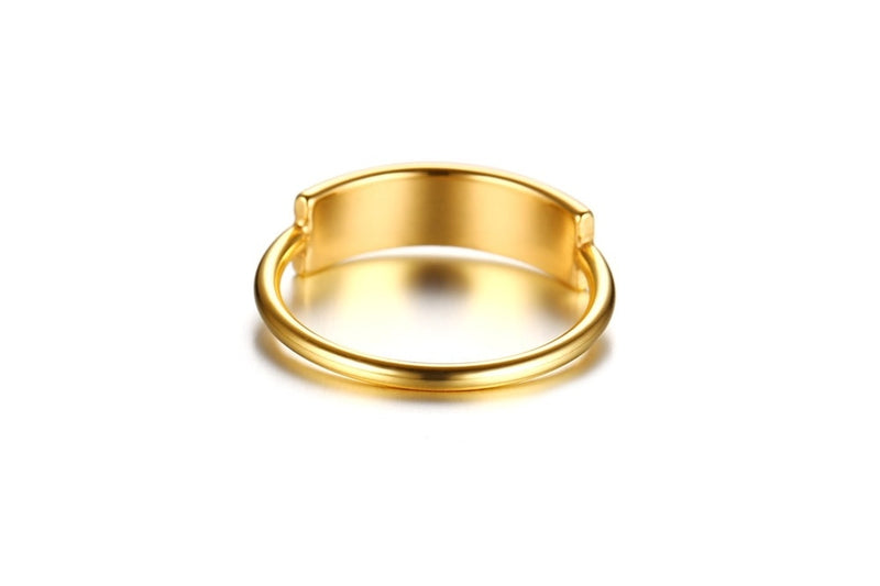 Minimalist Gold Custom Ring Band