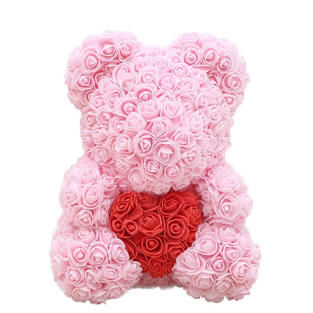 Luxury Rose Bear with Heart