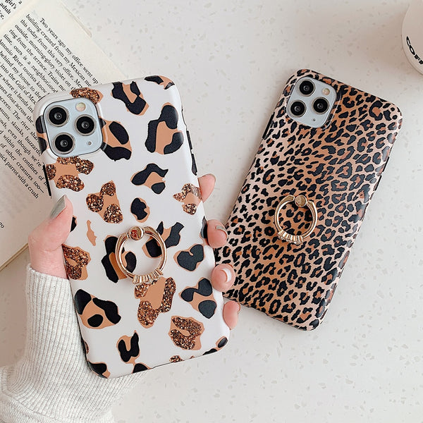 leopard iphone case with holder