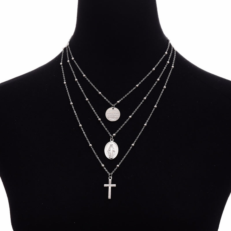 Multi-Layer Virgin Mary Pendant