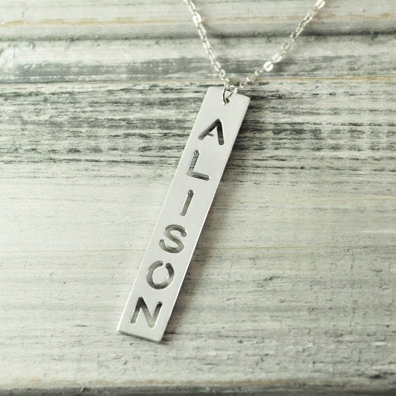 Cut Out Nameplate Choker