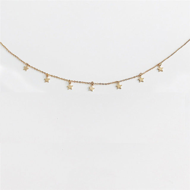 Cute Moon Star Necklace
