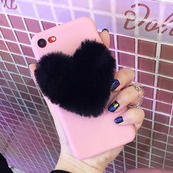 Furry Love Heart Case