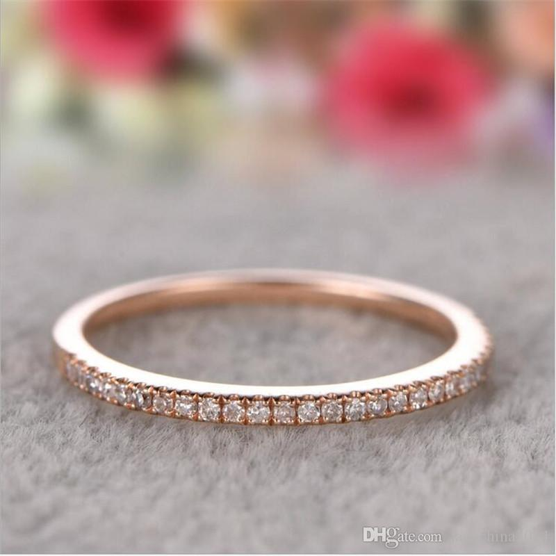 Crystal silver ring band