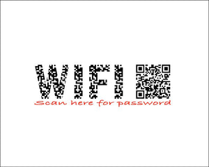 photo regarding Wifi Password Sign Printable identify Wifi Pword Scannable QR Code Indication Printable Progressive Residence Decor Residence warming reward Visitor Space Artwork - Electronic JPG Document