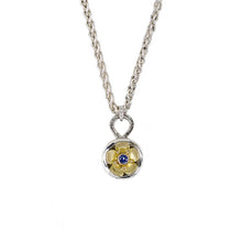 Load image into Gallery viewer, Chloe_Leigh_Designs_Beacon_Of_Hope_Necklace_18K_Yellow_Gold_Silver_Ceylon_Sapphire