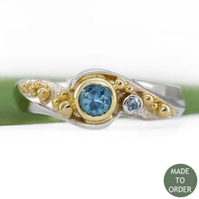 Load image into Gallery viewer, Embrace w/18K Yellow Gold Granulation | Wave Collection