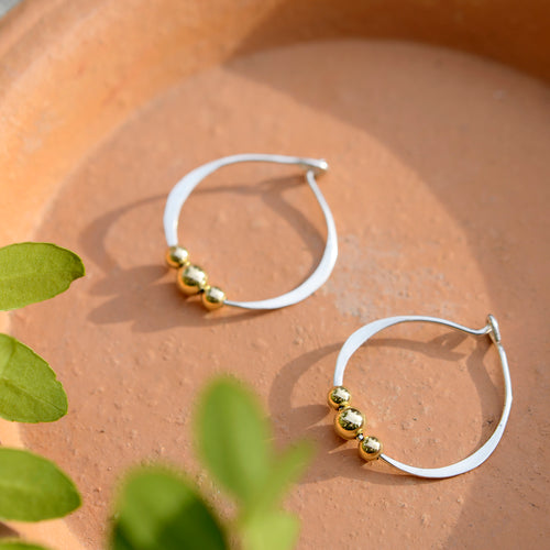 Gold Trio Hoops