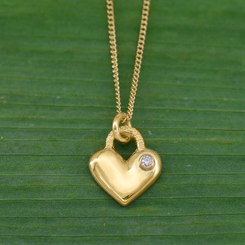 18K Forever Love Necklace w/ Diamond