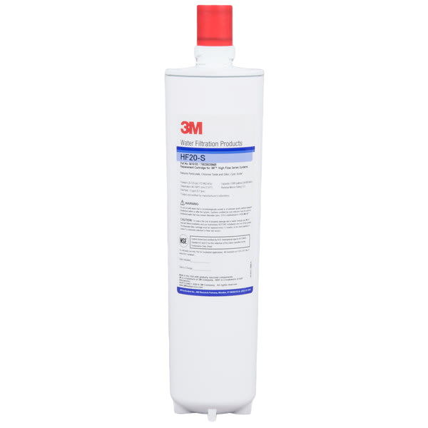 3M Water Filtration Products HF20-S Replacement Cartridge for ICE120-S Water Filtration System - 0.5 Micron and 1.5 GPM