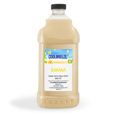 CoolBreeze Frozen Drink Flavor Syrups -Premium Slush 1/3 Mix - Banana