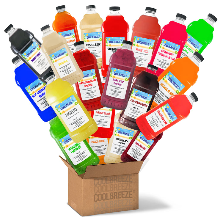 CoolBreeze Mix & Match Frozen Drink Flavor Syrups - Pick SIX Flavors