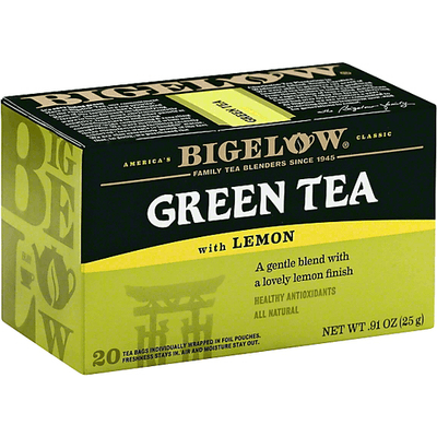 Bigelow, Lemon Tea,Single Serving, 28 Count Boxes, (Pack of 6), 168 Total