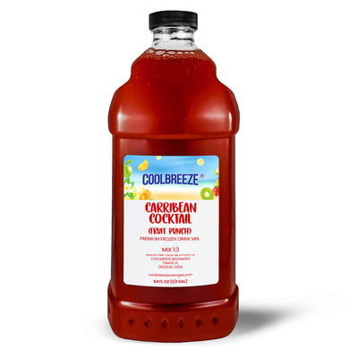 CoolBreeze Frozen Drink Flavor Syrups -Premium Slush 1/3 Mix - Caribbean Cocktail