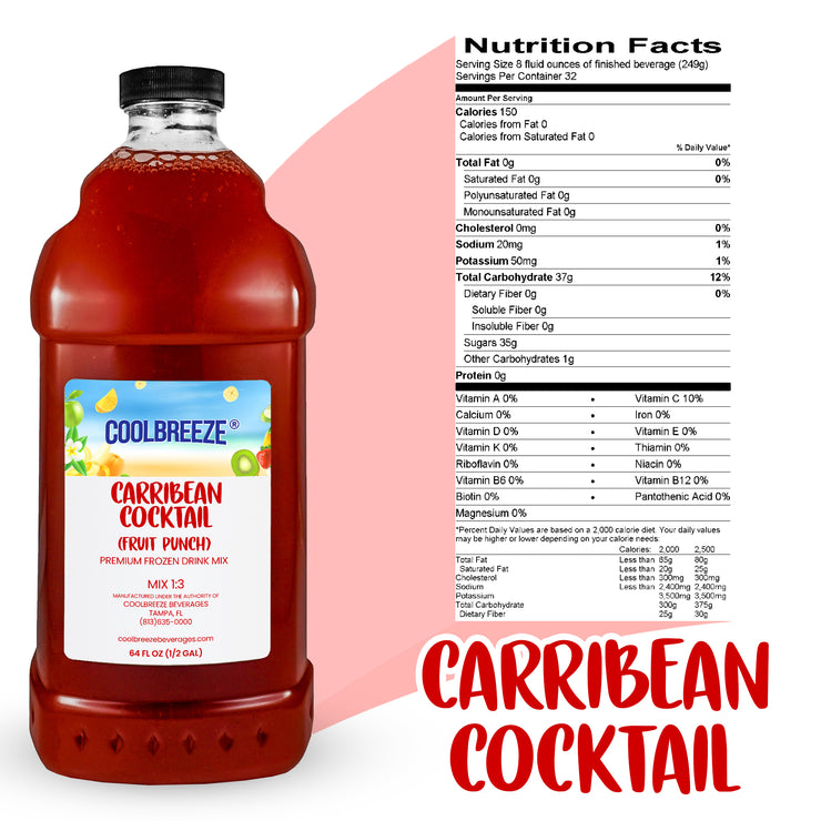 CoolBreeze Frozen Drink Flavor Syrups - Caribbean Cocktail