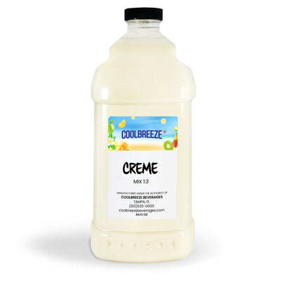 CoolBreeze®️ Beverages Ready To Use Premium Mix, Creme, 1/2 Gallon