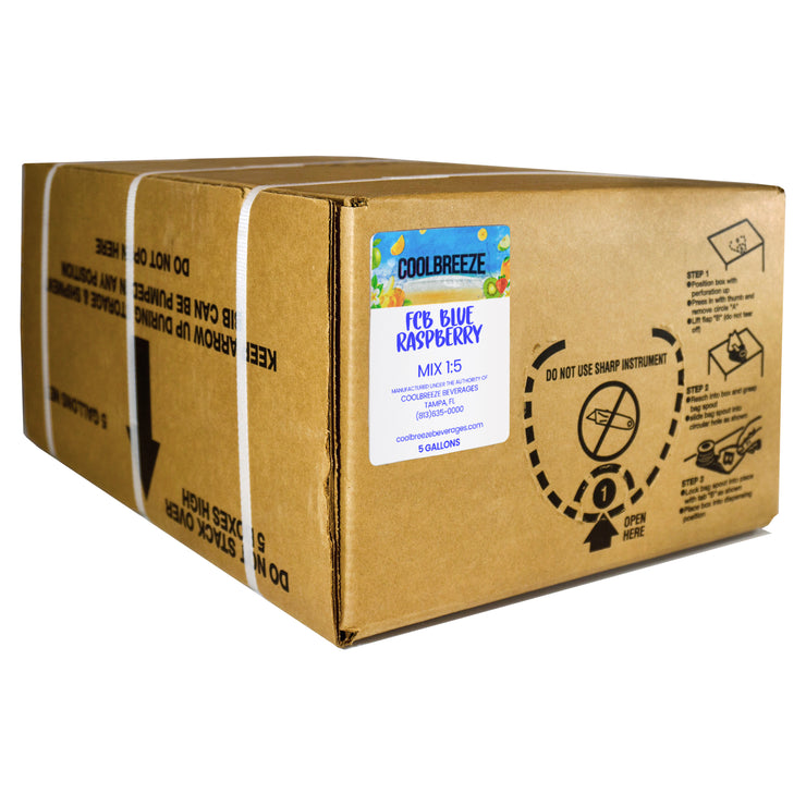 CoolBreeze® FCB Blue Raspberry 5 Gallon Bag in Box