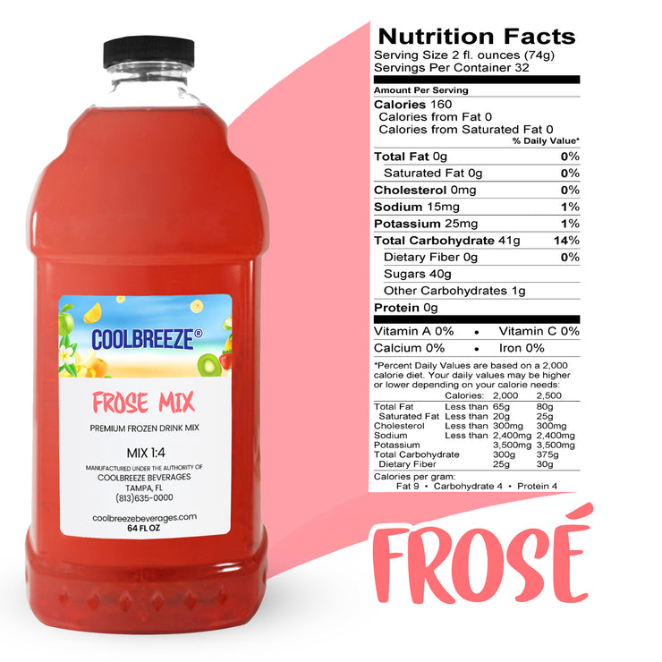 CoolBreeze Frozen Drink Flavor Syrups - FROSE SIx Pack