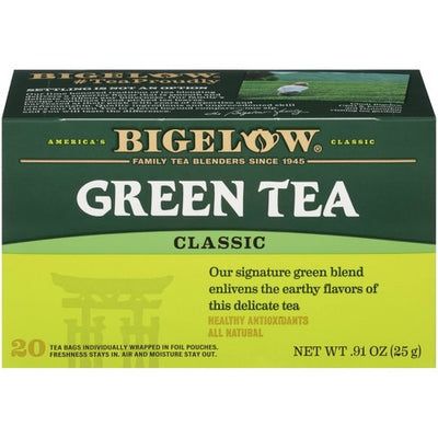 Bigelow, Green Tea, Single Serving, 28 Count Box Boxes (Pack of 6), 168 Tea Bags