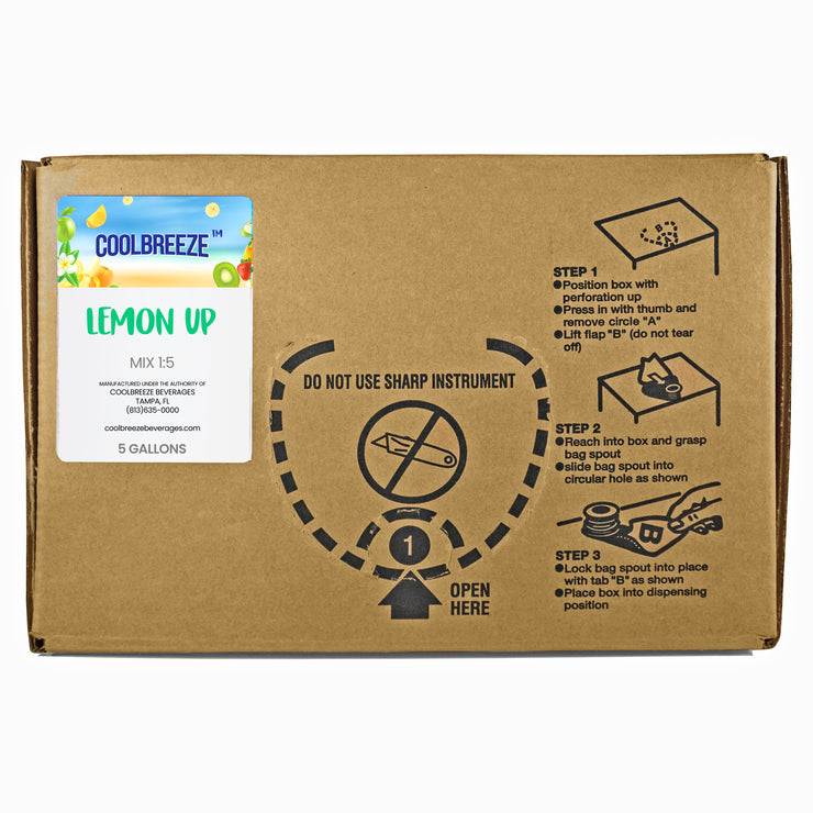 CoolBreeze® Lemon Up Syrup Concentrate 5 Gallon Bag in Box