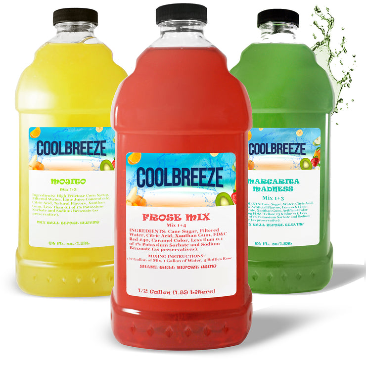 Cool Breeze Mix & Match Frozen Drink Flavor Syrups - Bartenders Special