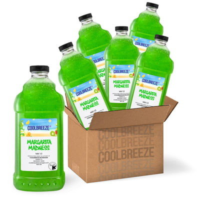Coolbreeze Beverages Premium Frozen Drink Mix, Kosher Certified, Made Fresh and Shelf Stable - 64fl Oz Bottle - Margarita Madness
