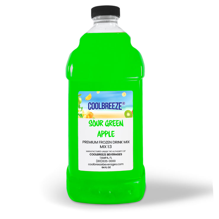 CoolBreeze Frozen Drink Flavor Syrups - Sour Green Apple
