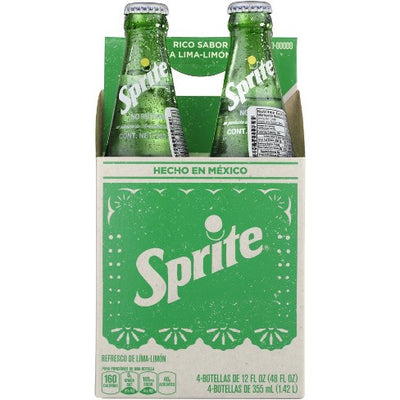 Sprite Mexico - 24ct/12 Glass Bottles, Made with Sugar Cane