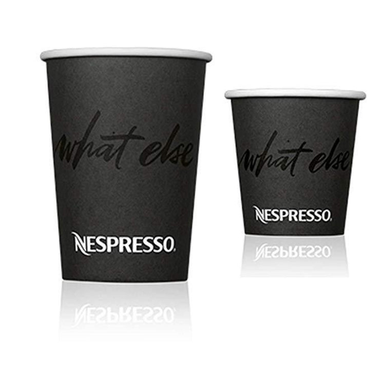 Nespresso Espresso Disposable Paper Cups (One Sleeve) - 4oz, 8oz, 12oz Cups
