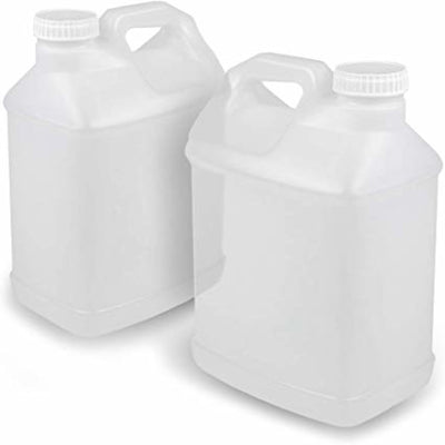 Food Grade, Sanitary, 2.5 Gallon Mixing Jugs, 2 Pieces, Clear