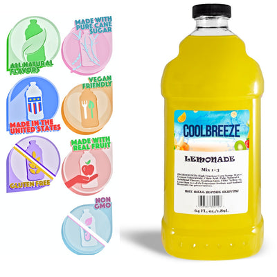 CoolBreeze®️ Ready To Use Premium Mix, Lemonade, 1/2 Gallon