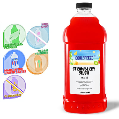 CoolBreeze Frozen Drink Flavor Syrups SNO CONE BASE - STRAWBERRRY