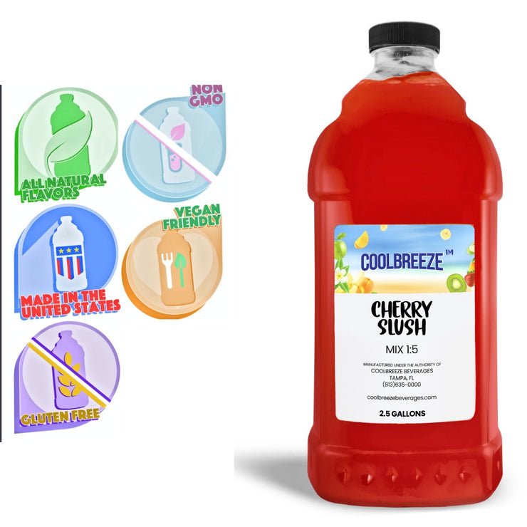 CoolBreeze Frozen Drink Flavor Syrups SNO CONE BASE - Cherry