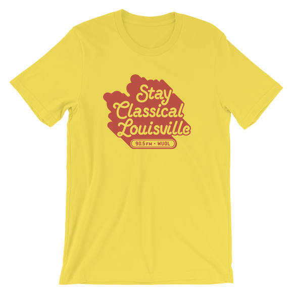 $10/mo. Sustainer Gift - WUOL Stay Classical Shirt (yellow)