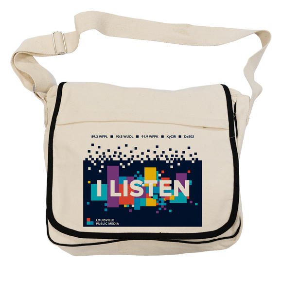 $20/mo. Sustainer Gift - LPM Messenger Bag