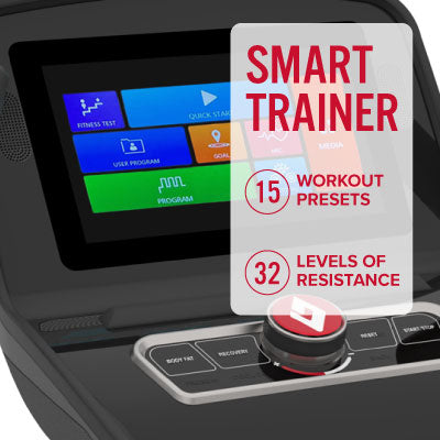 Image of Controllable trainer that automatically adjust resistance levels