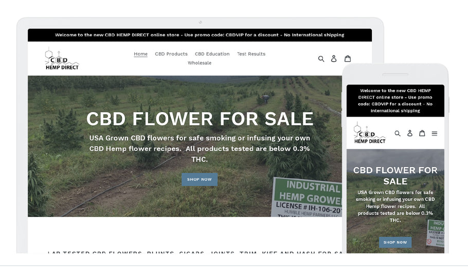New CBD flower ONLINE STORE by CBD Hemp Direct