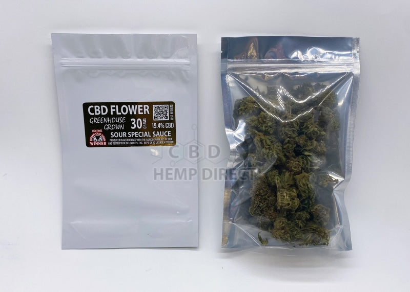 Cyber Monday Sale - Greenhouse Grown Hemp Flower (30 G) | 2 Strains Available Sour Special Sauce