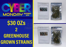 Load image into Gallery viewer, Cyber Monday Sale - Greenhouse Grown Hemp Flower (30 G) | 2 Strains Available Strain Sampler (1 Ss 1