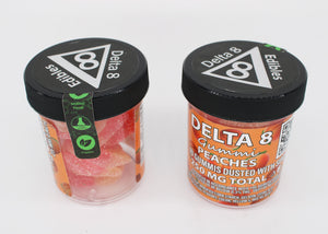 Delta 8 Edible Gummi Peaches - 25 MG Δ8 THC