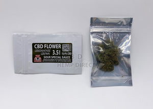 Sour Special Sauce Cbd Flower - 19.4% | New Greenhouse Grown 3.5 Grams Flower