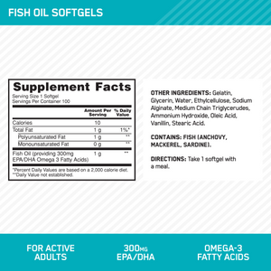 Optimum Nutrition Enteric-Coated Fish Oil 300MG