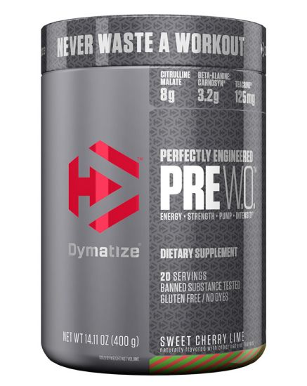 Dymatize Pre W.O Pre Workout Powder with Caffeine
