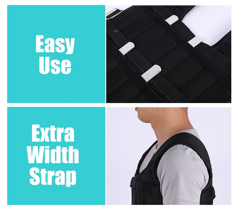 Weighted Adjustable Vest up to 60Lb - Raze The Barr LLC
