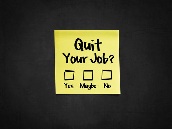 So you want to quit your job...